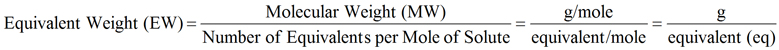 Equivalent Weight Equation