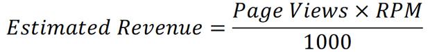 Google Adsense Revenue Equation
