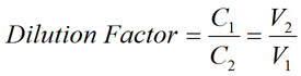 Standard Dilution Factor Equation