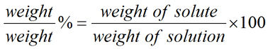 Equation for Weight/Weight Percent Solution Concentration