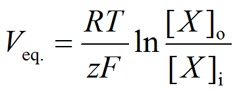 General form of the Nernst equation