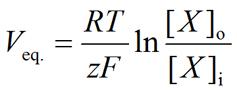 General form of the Nernst equation