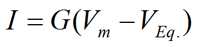 Ohm's law applied to specific ions
