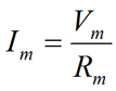 Ohm's law equation for membranes