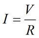 Ohm's law equation rearranged